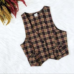 🔴4/$25 trés bien plaid tailored vest